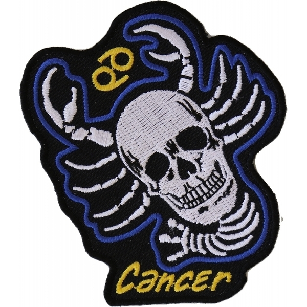 P5478 Cancer Skull Zodiac Sign Patch | Patches