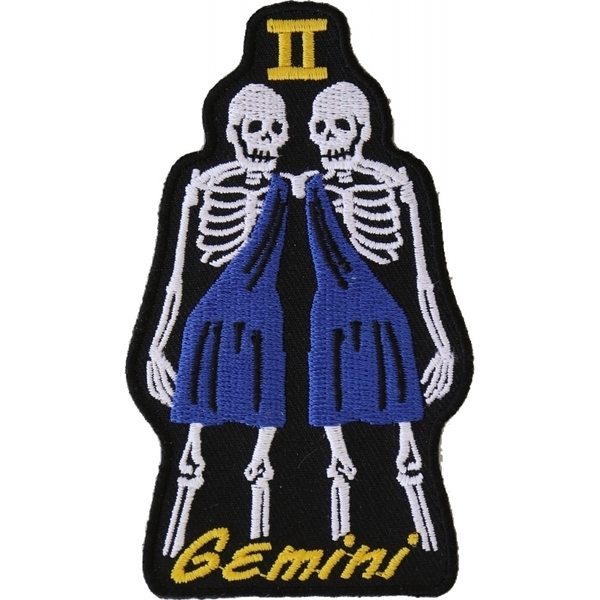 P5476 Gemini Skull Zodiac Sign Patch | Patches