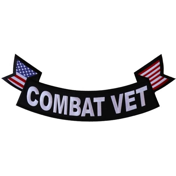 PL6558 Combat Vet Extra Large Rocker Patch | Patches