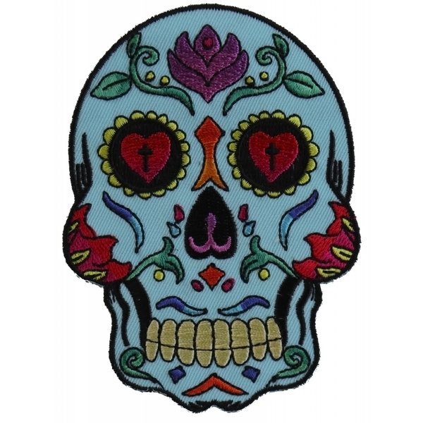 P5984 Sugar Skull Blue Patch | Patches