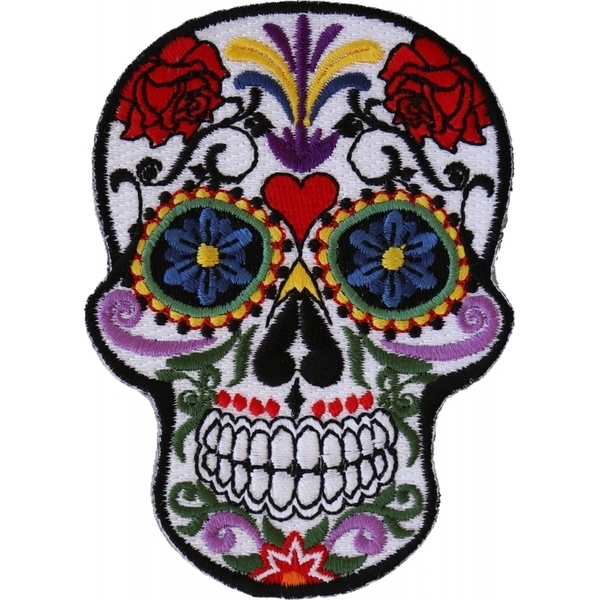 P5530 Sugar Skull Iron On Patch | Patches