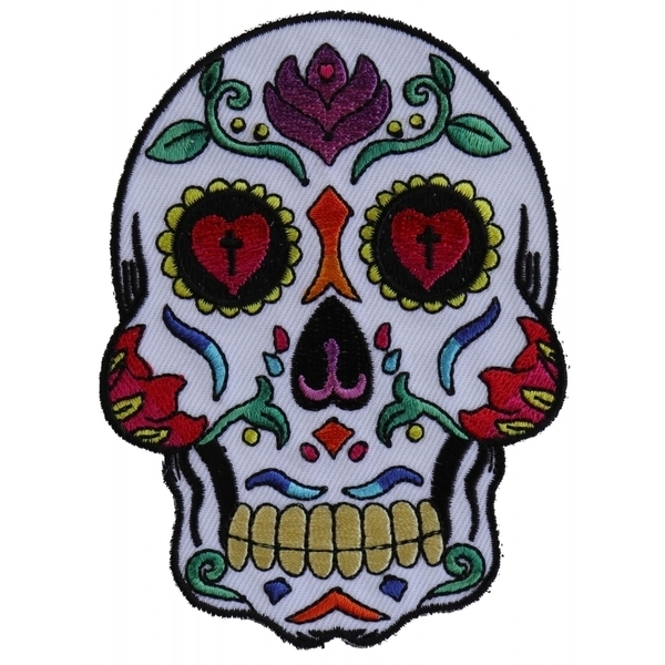 P5986 Sugar Skull White Patch | Patches