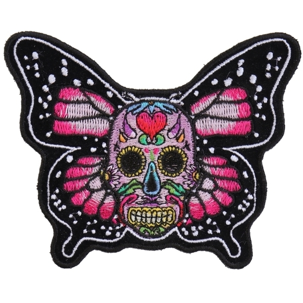 P6013 Sugar Skull Butterfly Patch | Patches