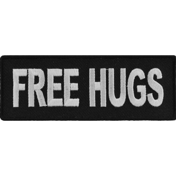 P3402 Free Hugs Naughty Iron on Patch | Patches