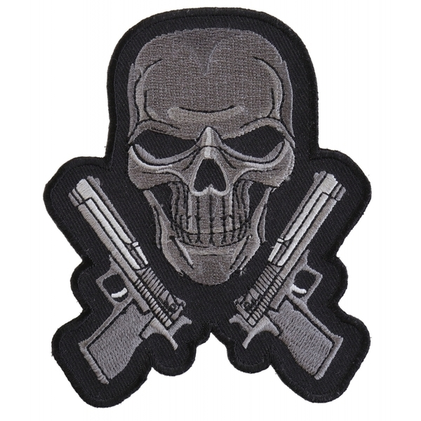 P4960 Guns and Skull Chrome Patch | Patches