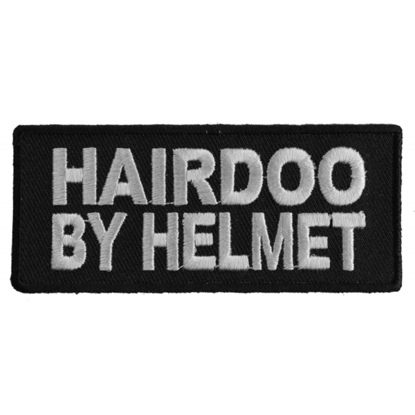 P1559 Hairdoo By Helmet Funny Lady Biker Patch | Patches