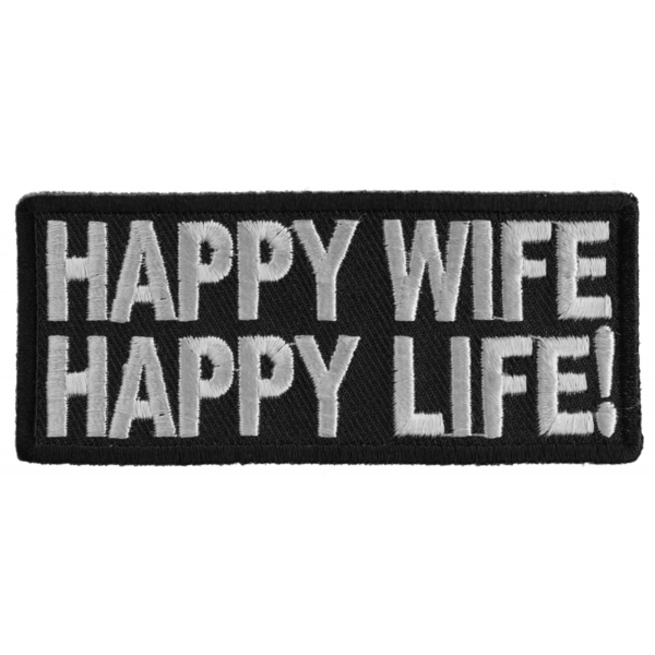P1506 Happy Wife Happy Life Patch | Patches