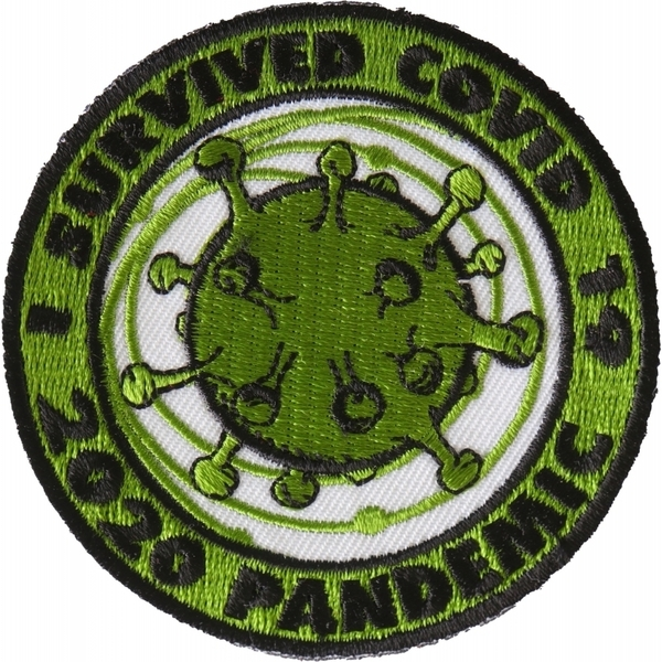 P6715 I survived covid 19 Iron on Corona Virus Patch | Patches
