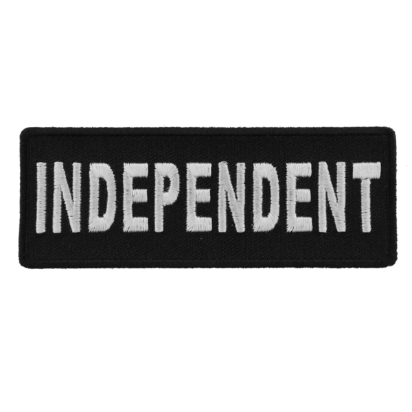P4426 Independent Black White 4 Inch Patch | Patches