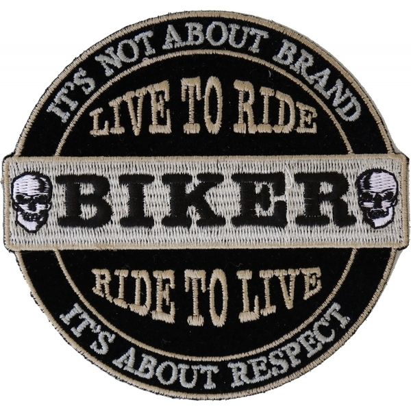 P4634 It's Not About Brand, It's About Respect Biker Patch Small | Patches