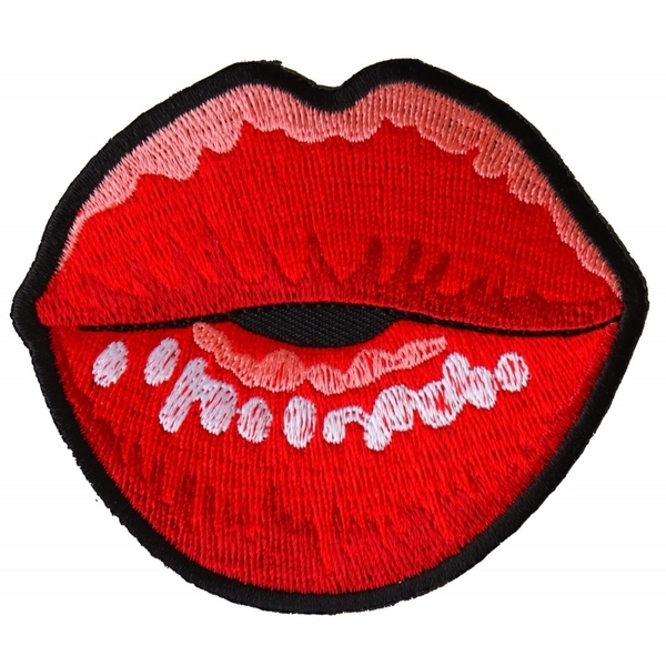 P6327 Kissing Lips Small Iron on Novelty Patch | Patches
