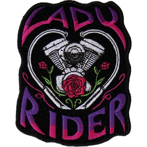 P6020 Lady Rider Path with Engine Roses | Patches