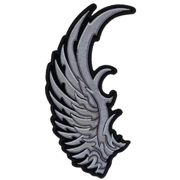 PR3782 Left Silver Eagle Wing Patch   Patches