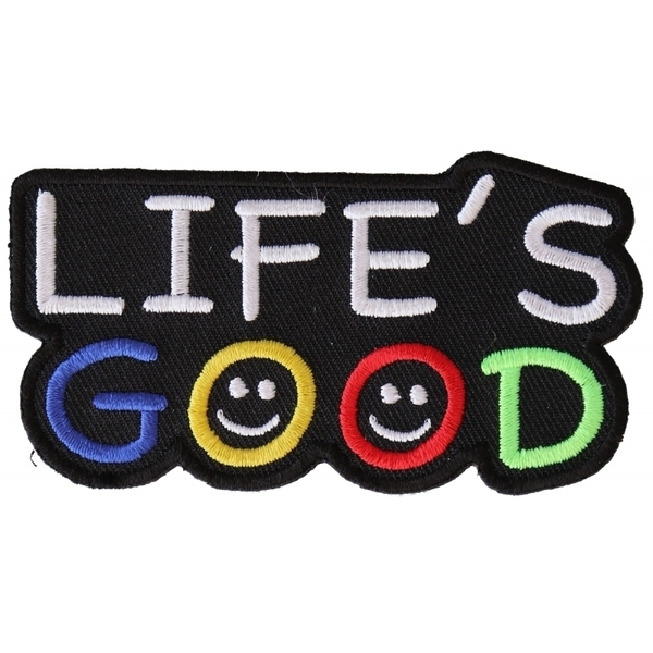 P3279 Life's Good Iron on Morale Patch | Patches