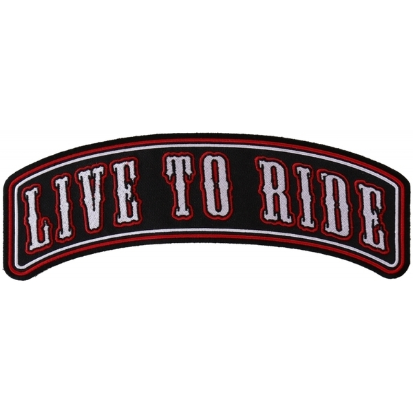 PR2543 Live To Ride Large Rocker Biker Patch | Patches