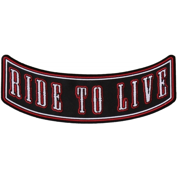 PR2544 Ride To Live Biker Rocker Back Patch | Patches