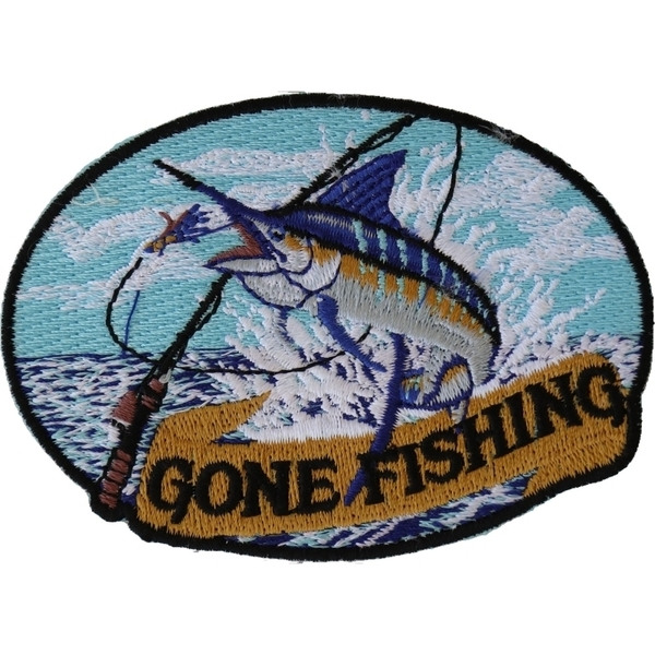 P4513 Marlin Gone Fishing Small Patch | Patches
