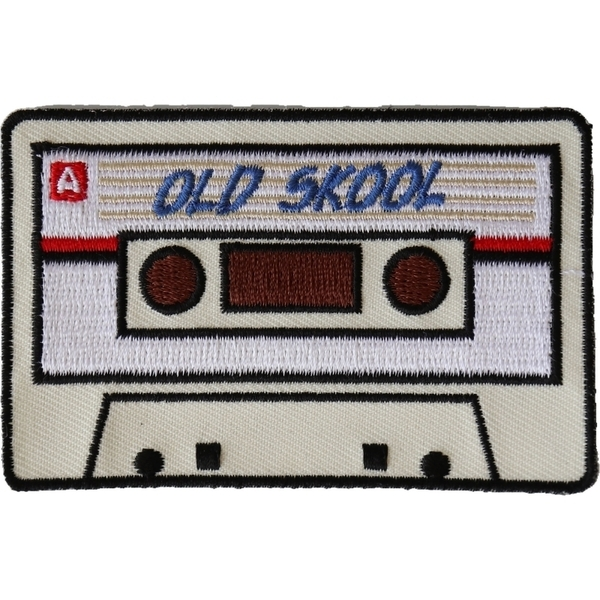 P5946 Old Skool Radio Cassette Novelty Iron on Patch | Patches