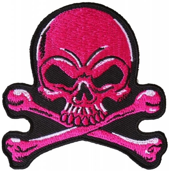 P6358 Pink Skull Patch | Patches