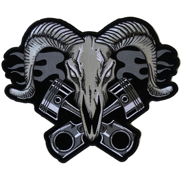 PL6703 Ram with Pistons Large Back Patch | Patches