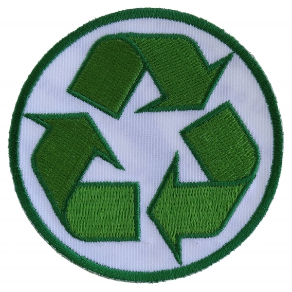 P5403 Recycle Sign Novelty Iron on Patch | Patches