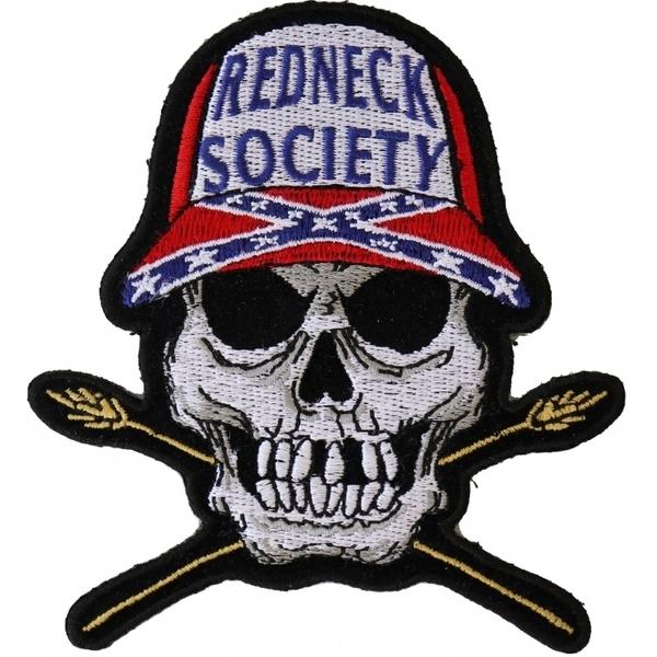 P6011 Redneck Society Skull Patch | Patches