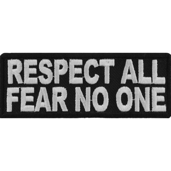 P1502 Respect All Fear No One Iron on Morale Patch | Patches