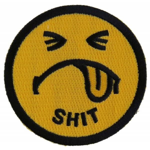 P2225 Shit Smiley Face Patch | Patches
