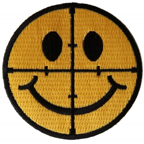 P6548 Sniper Scope Smiley Face Patch | Patches