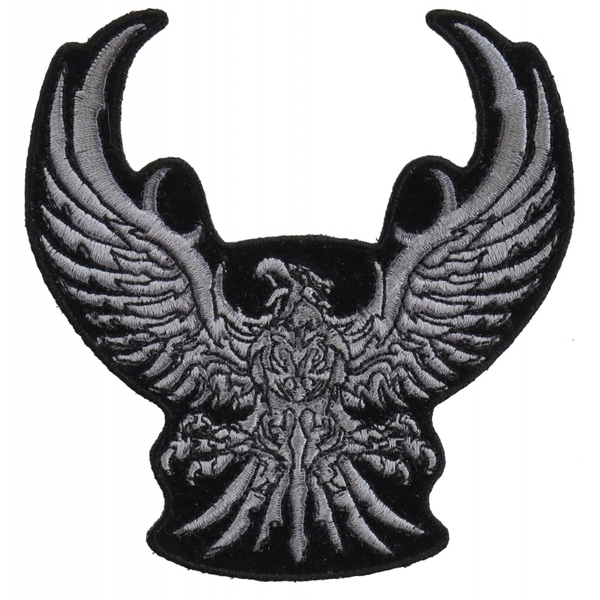 P3291 Silver Tribal Eagle Small Patch | Patches