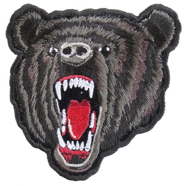 P3569 Small Black Bear Biker Patch | Patches