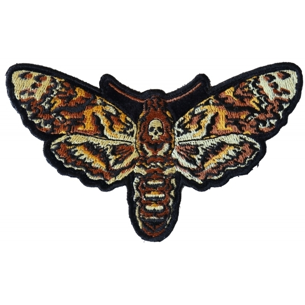 P6335 Small Psycho Moth Patch with Skull | Patches