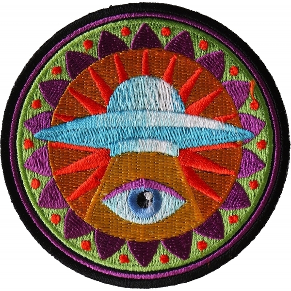 P6729 Spiritual Eye UFO Iron on Patch | Patches