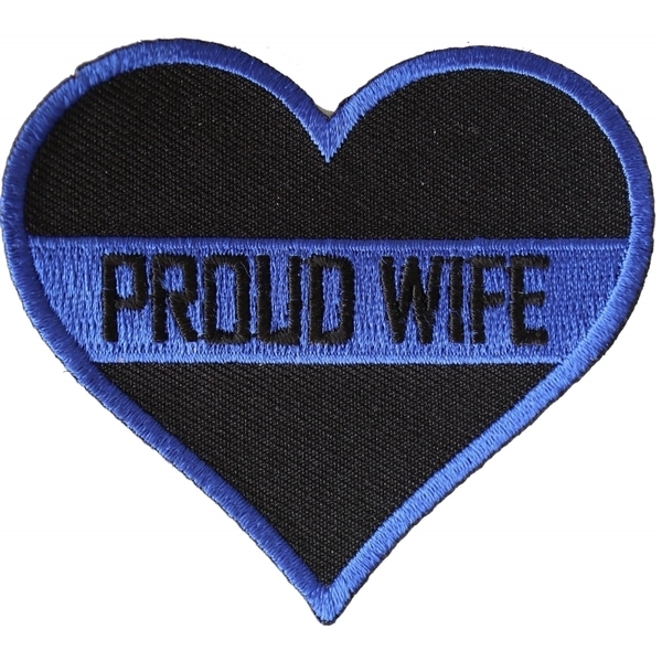 P4778 Thin Blue Line Proud Wife Patch For Law Enforcement | Patches