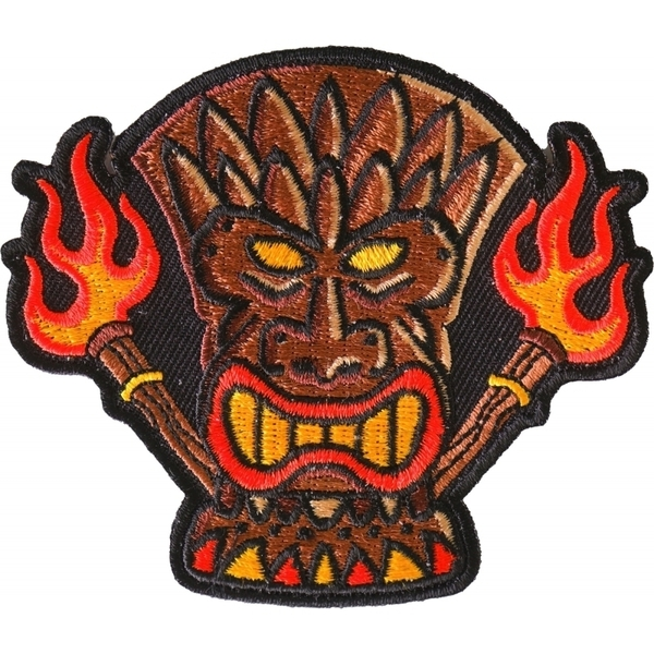 P6708 Tiki Totem Iron on Patch | Patches