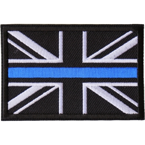 P6679 UK Flag Patch with Blue Line for Police | Patches