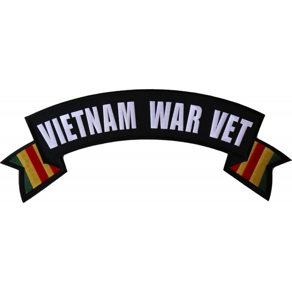 PL6561 Vietnam War Vet Extra Large Rocker Patch | Patches