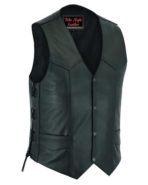 Wholesale Men's Leather Vests   DS106 Men's Side Lace Economy Vest   Daniel Smart Manufacturing