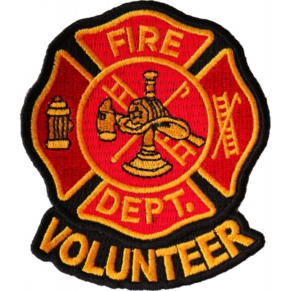 P6680 Volunteer Fire Dept Patch | Patches