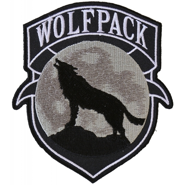 P6139 Wolfpack Patch Wolf Howling Moon Silhouette | Patches