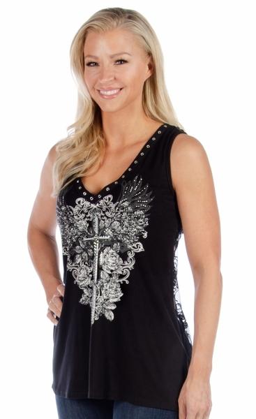 7581 Plunging Dagger Tank   Women's Shirts