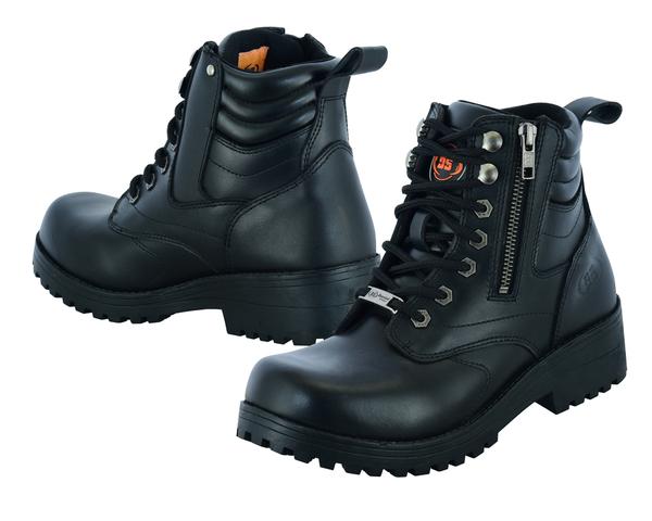 DS9768 Women's Side Zipper Plain Toe Boots | Women's Boots