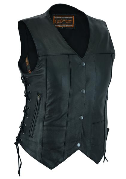 DS201  Women's 6 Pocket Utility Vest   Women's Leather Vests