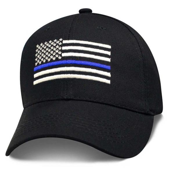 SPOLICE Blue Stripe Police Flag Cap | Hats