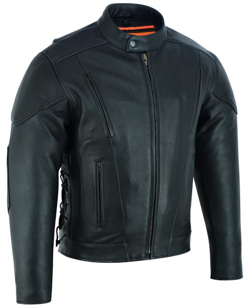 DS777 Men's Vented M/C Jacket Side Laces | Men's Leather Jackets