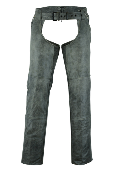 DS413 Unisex Double Deep Pocket Thermal Lined Chaps – GRAY   Chaps & Pants