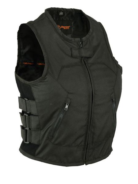 Wholesale  Motorcycle Vests | DS212BK Women's Updated Textile Club Vest