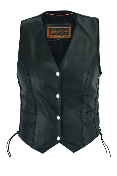 Wholesale  Motorcycle Vests | DS222 Women's Braided Vest