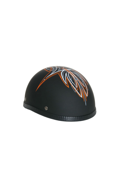 Wholesale Novelty Helmets | H29OR Novelty Eagle Orange Perewitz/Flat Black - Non- DOT