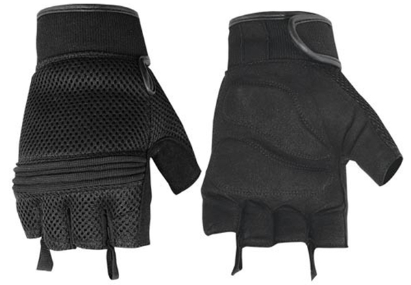 Wholesale Leather Gloves | DS10 Synthetic Leather/ Mesh Fingerless Glove